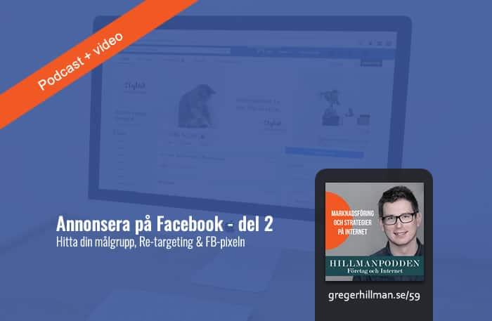 Välja rätt målgrupp till Facebookannonserna i företaget