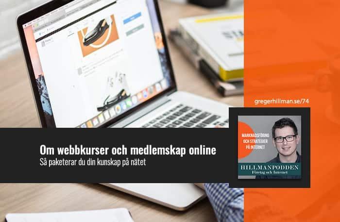 Om webbkurser och medlemsprogram online
